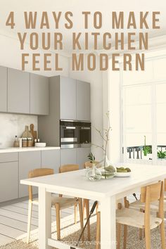 4 Ways To Make Your Kitchen Feel Modern - Mom Does Reviews Kitchen Cabinet Hardware, Kitchen Doors, Kitchen Cabinets, Futuristic Design, Cool Technology, Home And Living, Design Trends, Feels, Make It Yourself