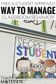 Manage class behavior with this easy and free idea!! Grab this free printable and see your class behavior turn around.