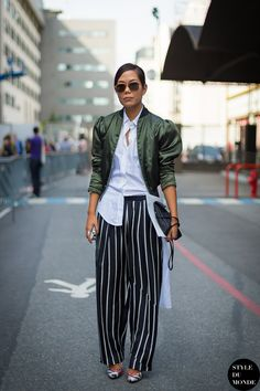 silk bomber jacket with chic outfit
