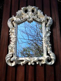 Vintage Ornate Victorian Framed Mirror Rustic by VelvetAndBone, $45.00
