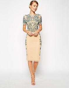Image 1 of ASOS Baroque Embellished Midi Shift Dress