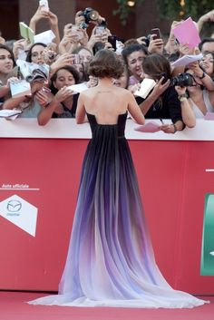 Lily Collins in Elie Saab Haute Couture (the booack of this dress is heaven)