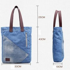 Casual Blue Denim Tote Shopping Bag Handbag is designer, see other popular bags on NewChic. Denim Tote Bags, Denim Handbags, Tote Handbags, Leather Handbags, Leather Wallets, Leather Bags, Denim Purse, Mochila Jeans, Blue Jean Purses