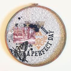 Altered Embroidery Hoop DIY Project