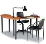 """Kayline Silhouette Laminated Table (S100) by Kayline. $186.99. Black Powder Painted Steel Legs. Side table, arm rest, lamp and chairs not included. S100 is front table only!!!!!!. Mix and match several pieces to suit your needs. 48""""L x 24""""W x 31""""H (18""""W at center). Unlimited flexibility! This system adapts to all salon areas, large or small. Select just the right pieces to enhance your own reception, manicure, hair styling and spa areas. Allow 2-3 Weeks for Delivery. ..."""
