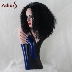 #RoseWholesale - #Rosewholesale Adiors Middle Part Medium Synthetic Afro Curly Wig - AdoreWe.com
