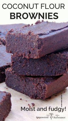 paleo brownies from empowered sustenance with added peppermint oil #100DaysofEssentialOils Day 51