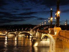 Budapest - Margit Hid [Margaret Bridge] at dusk