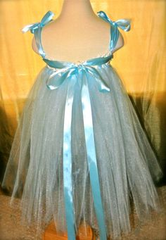 Ice Princess Shimmery Blue Tutu Dress with by gabriellaevabella, $38.00