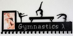 Gymnastics Picture Display: Gymnastics Ribbons Holder: Personalized Medals Holder #gymnastics-medal-hanger #gymnastics-medal-holder #gymnastics-medals-display #medal-display #medal-hanger #medal-hanger-gymnastics #medal-hangers #medal-holder #medal-holder-gymnastics #personalized-gymnastics-medal-display #wrestling-medal-display