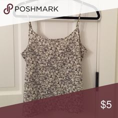 Wild Pearl Floral Tank Size large. Adjustable straps. Black & white. wild pearl Tops Tank Tops