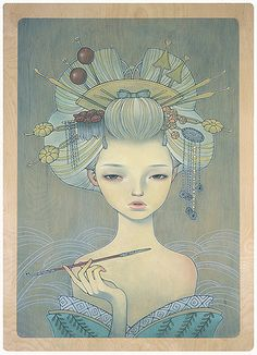 Oiran-20x28.5 by thinkspace_gallery, via Flickr