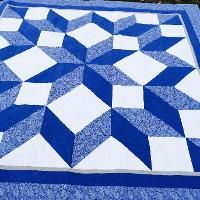 A Carpenter's Star by Deonn - Craftsy Star Quilt Blocks, Star Quilts, Rag Quilt, Easy Quilts, Picnic Blanket, Outdoor Blanket, Giant Star, Quilt As You Go, Queen Quilt