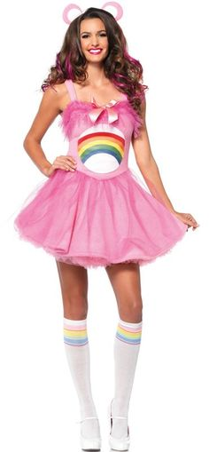 83c1b92d13 Leg Avenue Women's Care Bears Cheer Bear Costume - Candy Apple Costumes -  New Costumes for