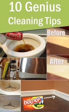 10 Genius Cleaning Tips You Probably Didn't Know About Cleaning tips, cleaning schedule, green cleaning #green