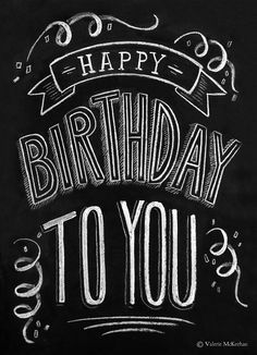 Happy birthday chalkboard, Birthday chalkboard and Happy birthday ...