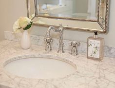 Bathroom Faucet. Affordable bathroom faucet. Bathroom  Faucets (Kingston Brass Heritage Chrome 2-Handle Widespread Bathroom Faucet $170): Lowe's #BathroomFaucet #Affordablebathroomfaucet Home Bunch's Beautiful Homes of Instagram peonypartydesigns