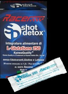 SHOT DETOX 20 stick 1,2 g orosolubili Gusto Amarena