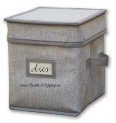 Stay stylishly organized with this storage necessity! The Spellbinders Storage Organizer is a collapsible storage box with handles for easy transport and a Scrapbook Supplies, Craft Supplies, Scrapbooking, Boxes And Bows, Boxes For Sale, Box With Lid, Closet Organization, Organizing, Picture Frames