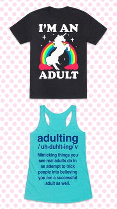 These funny adulting shirts are what every pretend grownup or new adult needs. Adulting: mimicking things you see real adults do in an attempt to trick people into believe you are a successful adult as well. This sarcastic shirt collection is great for fans of how to adult, college student gifts, adulting jokes, and sarcastic humor.