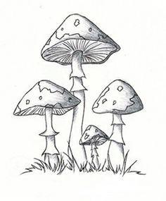 mushroom clip art, vintage mushroom, vector art clipart