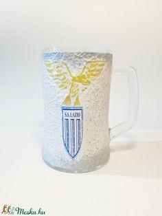 SS. Lazio focicsapat emblémájával dekorált sörös korsó futball rajnogói ajándék  (Biborvarazs) - Meska.hu
