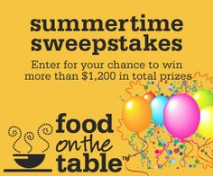 Food on the Table $$ Summer Sweepstakes!
