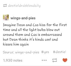 Destiel first kiss