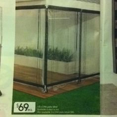 Kmart Patio Blind. 1.5x2.4m $69 Or 2x2.4m $85 In Clear