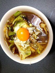ラー油の野菜炒めを 入れてみた(o^^o) - 4件のもぐもぐ - 辛醤油ラーメン♪♪ by pineri