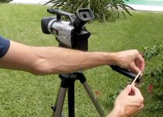Easy video camera trick to make your project look more professional. All you need is a rubber band! Click to watch the video.