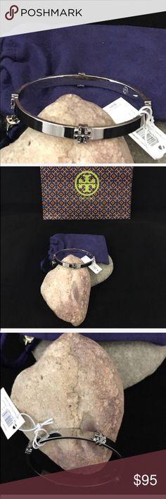 TORY BURCH BANGLE BRACELET (Silver) NWT. TORY BURCH BANGLE BRACELET (Silver) NWT. Comes with dust bag for bracelet.  NO TRADES Tory Burch Jewelry Bracelets
