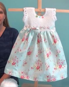 Vintage pillowcase baby dress. You Tube http://youtu.be/0TRBaor9snE