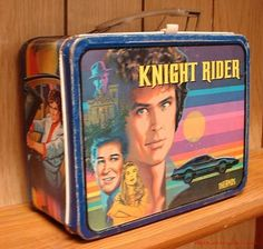 30 Vintage Lunch Boxes We Had: Knight Rider – My Vintage Lunchbox Collection – Lunch Retro Lunch Boxes, Lunch Box Thermos, Cool Lunch Boxes, Metal Lunch Box, Whats For Lunch, Out To Lunch, Tiffin Box, The Muppet Show, School Lunch Box