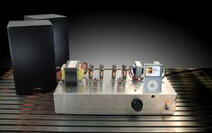 Build your own tube-amp iPod dock.