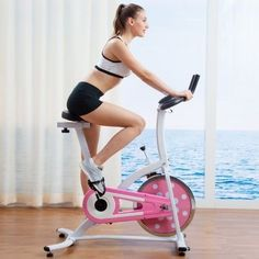 Indoor Cycling Bike Health and Fitness Cardio Workout Adjustable Seat LCD Screen #SunnyHealthFitness