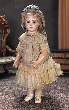 A.T. Bebe made by Andre Thuillier French doll maker in the 19th.C.