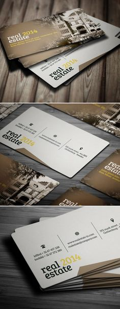 Real Estate Business Card #businesscards #printready #psdtemplates