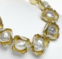 Spectacular pearl necklace from London jeweller Andrew Grima.