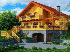 Mazurek IX z dobudówką - Domki ogrodowe - DREWNEX Home Fashion, Cabin, House Styles, Home Decor, Decoration Home, Room Decor, Cabins, Cottage, Home Interior Design
