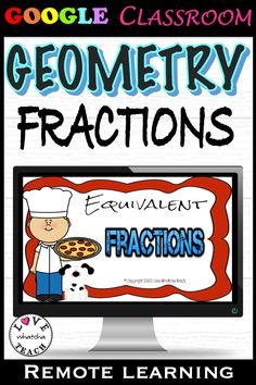 EQUIVALENT FRACTIONS can be really fun - when you practice with PIZZA! Insert these slides into your GOOGLE CLASSROOM, make a copy for each student and assign! There is no prep for you as instructions are already listed on each interactive slide.  Perfect for distance learning! Gifted Students, Equivalent Fractions, Interactive Whiteboard, Student Gifts, Google Classroom, Student Learning, Vocabulary, Distance, Something To Do