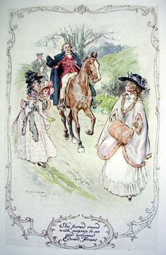 "sense and sensibility illustrations | ... Edmund (""C.E."") Brock for Jane Austen's Sense and Sensibility"