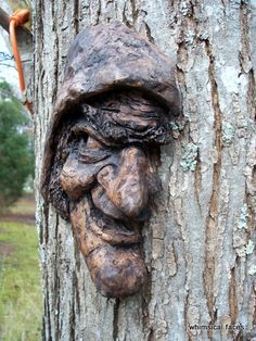 """The Wicked Witch"" on the tree - Paul Nixon's art."