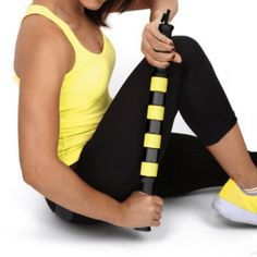 Best Massage Muscle Roller Stick Because it Works... Instant Relief of Leg Tightness, Cramping & Soreness Post Exercise