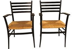 French Rush Chairs, Pair on OneKingsLane.com - i3 1725/699