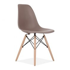 Eames Style Warm Grey DSW Chair   Cafe & Side Chairs   Cult Uk