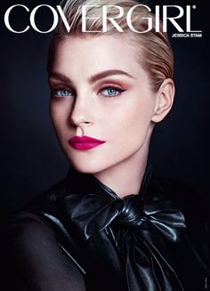 Jessica Stam for CoverGirl...I love everything about this picture!  The makeup, the model, the clothes;)