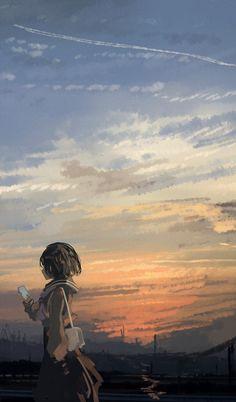 Wallpaper Animes, Anime Scenery Wallpaper, Anime Artwork, Animes Wallpapers, Anime Girl Cute, Anime Art Girl, Manga Art, Aesthetic Art, Aesthetic Anime