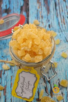 Crystallized Ginger AKA candied ginger with minimal ingredients is a must have in the closet due to its medicinal benefits. The sugary coating helps kids eat them without much fuss. Shot Recipes, Tea Recipes, Candy Recipes, Dessert Recipes, Crystalized Ginger Recipe, Ginger Benefits, Health Benefits, Sweet Sauce, Candy
