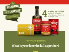 Bell-Carter Foods, Inc. Lindsay Sharing the Harvest Sweepstakes